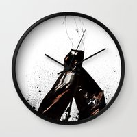 raven Wall Clocks featuring Raven by Holly Sharpe