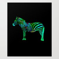 Zebra Abstract Prnt Art Print