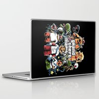 grand theft auto Laptop & iPad Skins featuring Grand Theft Mario by Fuacka