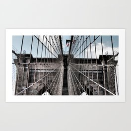 Iron Strung - Brooklyn Bridge Art Print