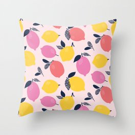 Kitschy Colorful Citrus Pattern Throw Pillow