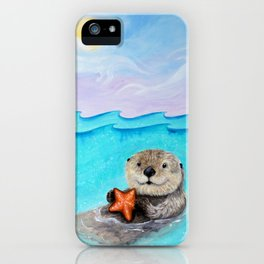 Sea Otter Serenity iPhone Case
