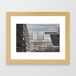 postcard from the barbican... Framed Art Print