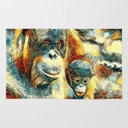 AnimalArt_OrangUtan_20170910_by_JAMColorsSpecial Rug