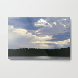 Walden Pond at Dusk 3 Metal Print
