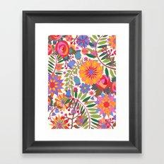 Just Flowers Lite Framed Art Print