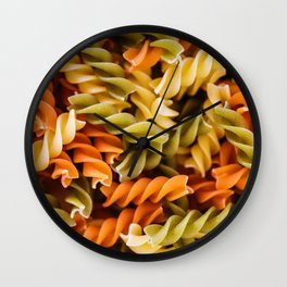 Pasta Noodles Pattern (Color) Wall Clock