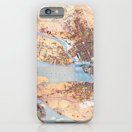 Stockholm Map 1885 iPhone Case