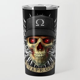 Vaping Skull - Vape On - Cloud Chaser - Vaper Travel Mug