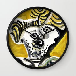 Pablo Picasso - Man's head - Digital Remastered Edition Wall Clock
