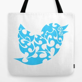 Twitter logo [floral and tribal inspired] Tote Bag