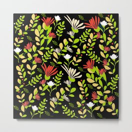 Abstract flowers with black background Metal Print