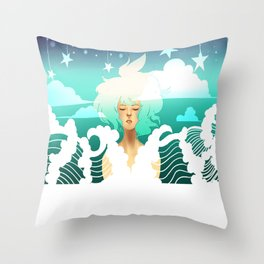 Be Fluid Throw Pillow