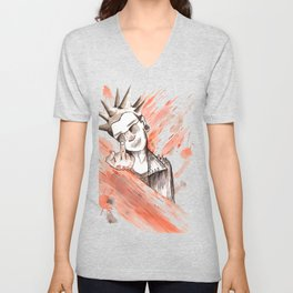 Graphic Styled Punk Unisex V-Neck