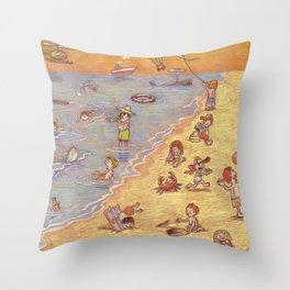 Children of summer Throw Pillow