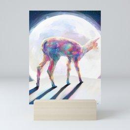 Rainbow on the Moon Mini Art Print