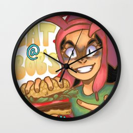 EAT @ BOBS Wall Clock