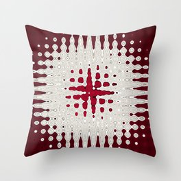 Melting Star Red Throw Pillow