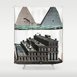 Pyramids and Floating (Suspended) Gardens of Babylon Shower Curtain