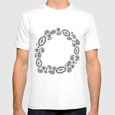 Inner circle White Mens Fitted Tee MEDIUM