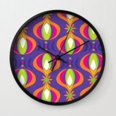 Oohladrop Purple Wall Clock