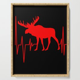 Moose Heartbeat Heartline Deer Reindeer Elk Stag Serving Tray