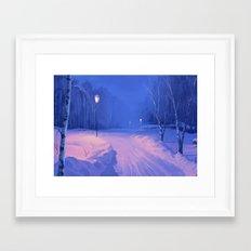 Home for Christmas Framed Art Print