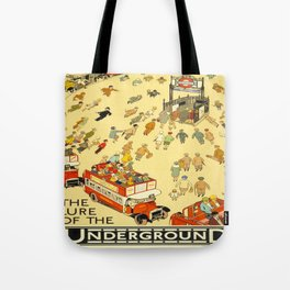 Vintage poster - London Underground Tote Bag