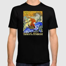 Tales of the Trident:Poseidon with Title T-shirt