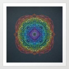 Colorful Chakra Mandala Art Print