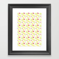 summer fruit cocktail Framed Art Print