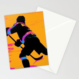 He Shoots! - Hockey Player Stationery Cards