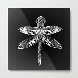 The Night Dragonfly Metal Print