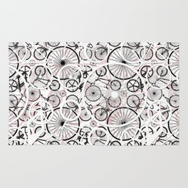Bicycle Pattern Fun Rug
