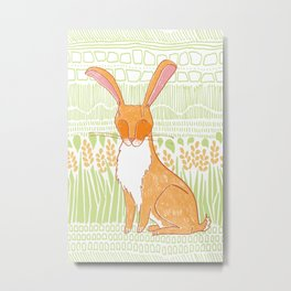 The Hare Metal Print