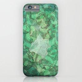 Green Blobs iPhone Case