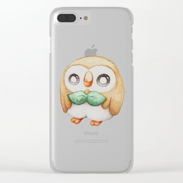 Rowlet - Pocket Monster Clear iPhone Case