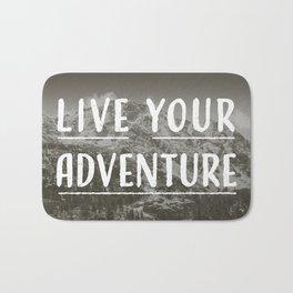 Live Your Adventure Bath Mat