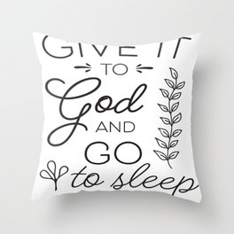 Prayer Jesus Faith Bible Psalm Gift Throw Pillow