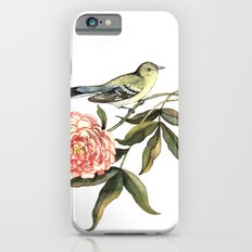 Watercolor illustration with bird and flower iPhone 6s Slim Case