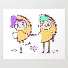 Taco love Art Print