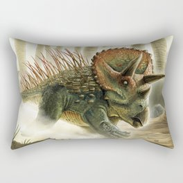 Triceratops Charge! Rectangular Pillow