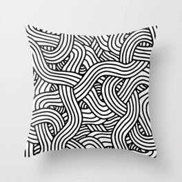 Overlapping Tangles Throw Pillow
