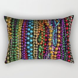 Mardi gras beads Rectangular Pillow