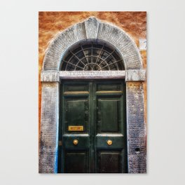 Romenesque, Roman Door, Rome, Italy Canvas Print