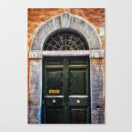 Romenesque, Roman Door, Rome, Italy Canvas Print