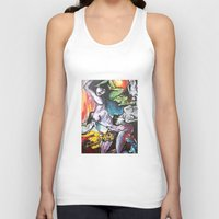 gravity Tank Tops featuring Gravity by Lily Mandaliou