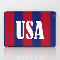 usa iPad Cases featuring USA by Caio Trindade