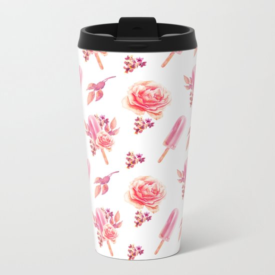Floral Chill Metal Travel Mug