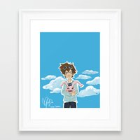 digimon Framed Art Prints featuring Digimon Tri by lulovera